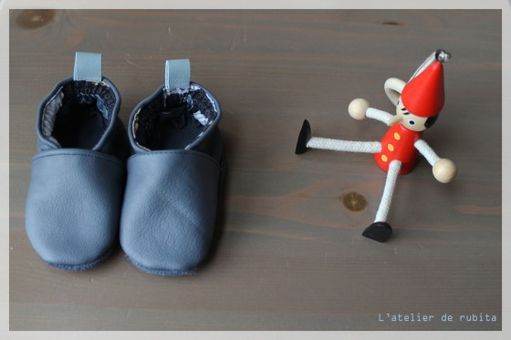 rubita chaussons bleus