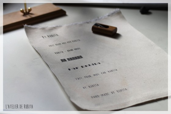 L'atelier de rubita // Etiquettes en impression laser sur tissu