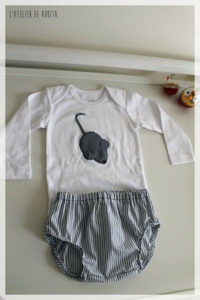 L'atelier de rubita // Pyjama d'été pour bébé