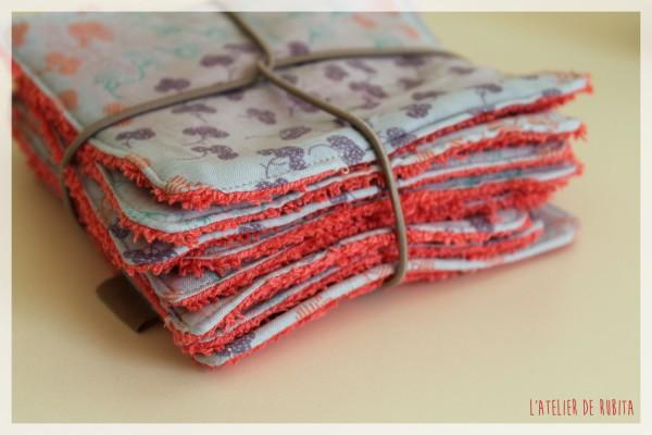 L'atelier de Rubita // Lingettes lavables // Tissu Anna K Bazaar
