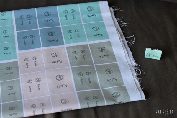 Par rubita // étiquettes personnalisées sur tissu