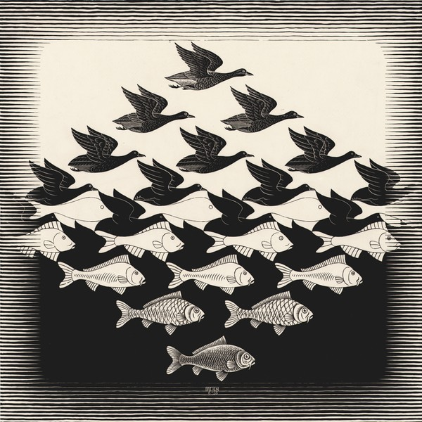 MC Escher-Sky-and-water