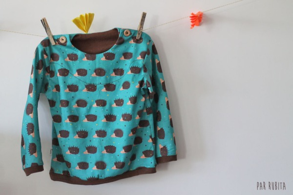 Par rubita // T-shirt Katsu aux hérissons
