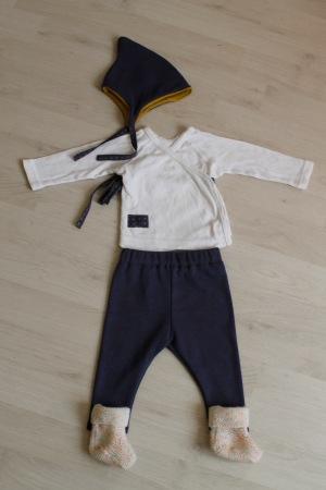 Par rubita // Tenue de naissance brassière et legging Ottobre