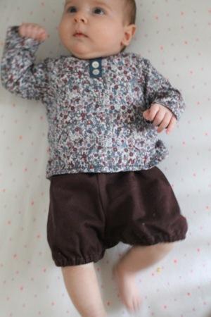 Par rubita // Brassière et bloomer des Intemporels pour bébés